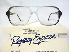 Regency By Tart Optical Vintage Dbl Bridge Eyeglass Frame Baretta CB Grey 59-17