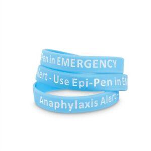 Epi Pen Medical Id Bracelet Silicone
