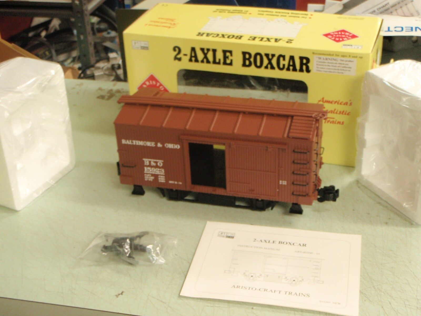 ARISTO CRAFT TRAINS ART-40305 BOXCAR 2-AXLE BALTIMORE OHIO 1 GAUGE MINT NEW
