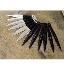 "12pc SET Naruto Kunai 6"" THROWING KNIVES Ninja Knife Dagger w/Sheath TKN12"