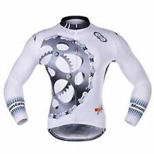 Herren Thermo Radtrikot Langarm Winter Fahrradjacke Fahrradshirt Schwarz S-5XL