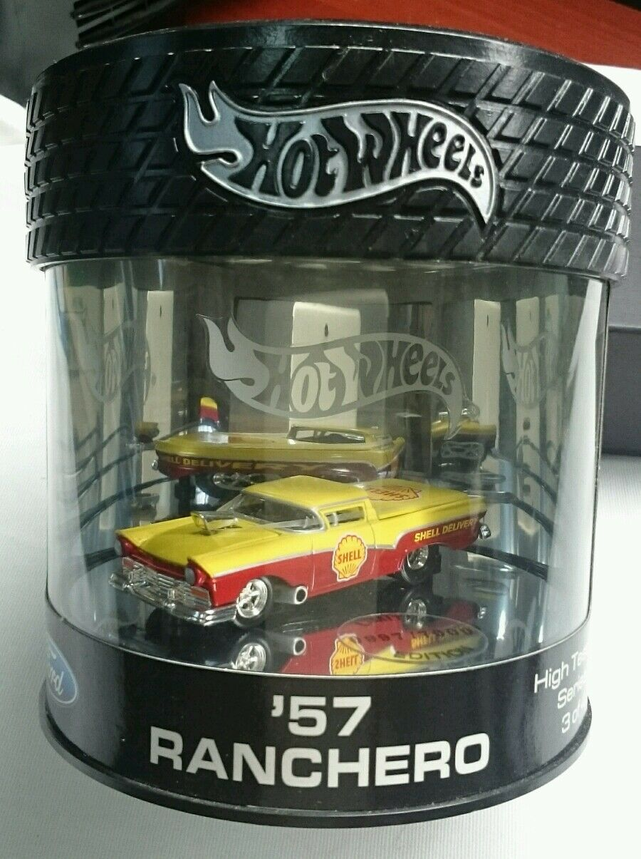 HOT WHEELS 57 RANCHERO FORD HIGH TEST SERIES DIE CAST REAL RIDER LIMITED  MINT