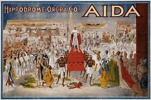 Hippodrome-Opera-Co-Aida-Panneau-Metallique-Plaque-Voute-en-Etain-20-X-30-CM