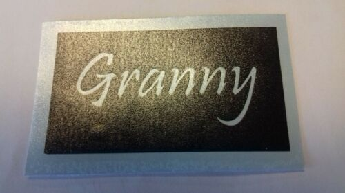 10 x Grand-Mère Word Stencil FOR ETCHING on glass Present Poison Mothers Day Nan Nanna