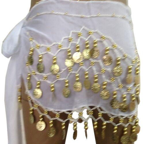Child Kid Belly Dance Hip Skirt Scarf Wrap Belt Hip scarf with Gold//Silver Coins