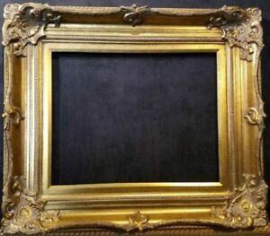 5-034-WIDE-Antique-Gold-Ornate-Victoria-Baroque-Wood-Picture-Frame-801G