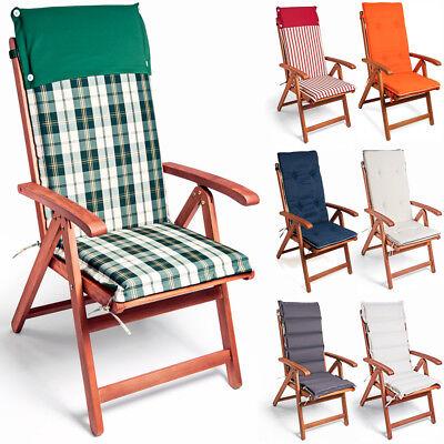 Stuhlauflage Hochlehner Auflagen Detex® 6x Sitzkissen Kissen Sitz Gartenpolster