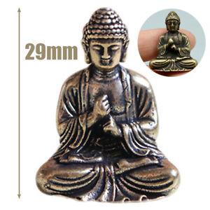 Small-Lucky-Pure-Brass-Chinese-Sakyamuni-Buddha-Statue-Ornament-Decoration-Gift