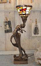 Floreale Lampada Tavolo Stile Liberty Ninfa Oggetto D'antiquariato Illuminazione