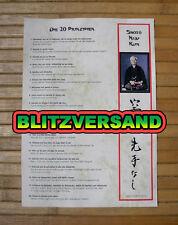 Shoto-Kiju-Kun - Die 20 Grundprinzipien - Funakoshi - Shotokan - Karate