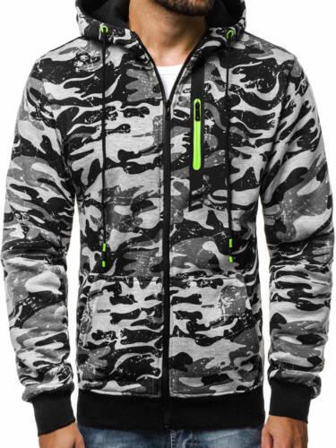 OZONEE JS//33015 Herren Kapuzenpullover Sweatshirt Pullover Kapuze Sweatjacke