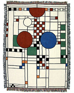 Image Is Loading Frank Lloyd Wright Ley Playhouse Tapestry Throw