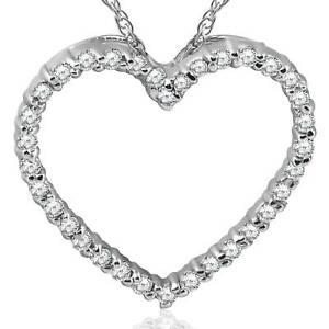 14K-White-Gold-1-2ct-Diamond-Heart-Pendant-Necklace
