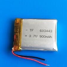 3.7V 900mAh 603443 LiPo Battery For MP3 DVD GPS Camera Recorder PAD Selfie Stick