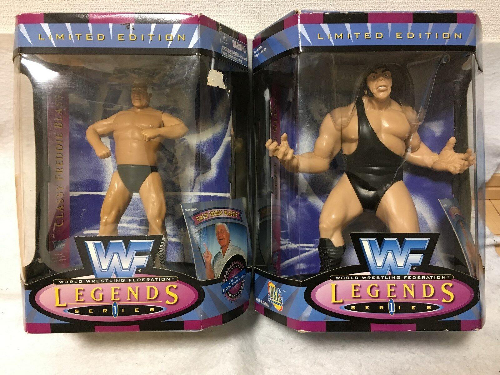 WWF Legends Figure Classy Frougedie Blassie & Andre the Giant  authentiques JAKKS  acheter 100% de qualité authentique