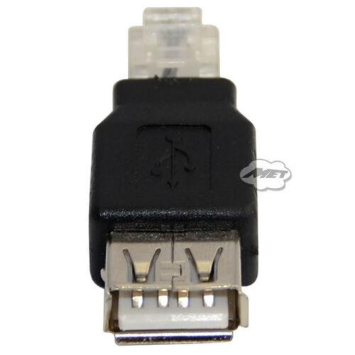 10pcs USB2.0 Type A Female to RJ11 4P Ethernet Network Adapter Coupler Converter