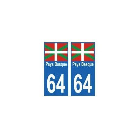 64 Pays Basque autocollant plaque arrondis