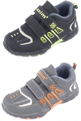 NEW KIDS BABY BOYS BLACK LEATHER INSOLES TRAINERS STRAPS NURSERY SHOES SIZES 6 8