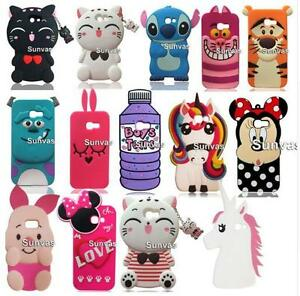 For-Samsung-Galaxy-A3-A5-A7-2017-3D-Striped-Cat-Soft-Silicone-Case-Cover