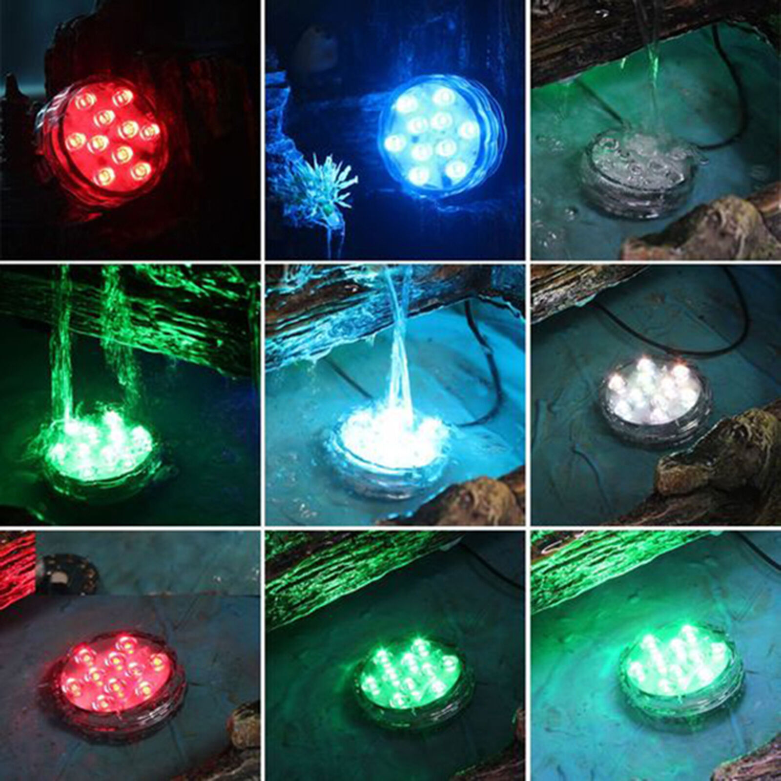 Multicolor remote control submersible underwater led for Koi pond underwater lighting