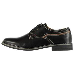 95bdfcdac8 Men's Lee Cooper PORTER Black Soft Leather Lace-Up Derby Formal ...