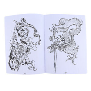 A4 49 Pages Tattoo Reference Book Traditional Dragons Body Art Sketch Book Ebay