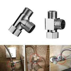 3 Way Water Tap Connector Diverter Valve Faucet Adapter Kitchen Sink Splitter Ebay
