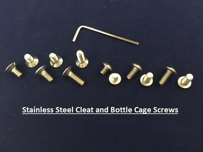 Bicycle SPD Pedal Cleat Bolts Countersunk Stainless Seel High Tensile Steel