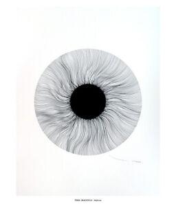 TABLEAU ART MODERNE ABSTRAIT CONTEMPORAIN Black eye 07 Original  TEHOS