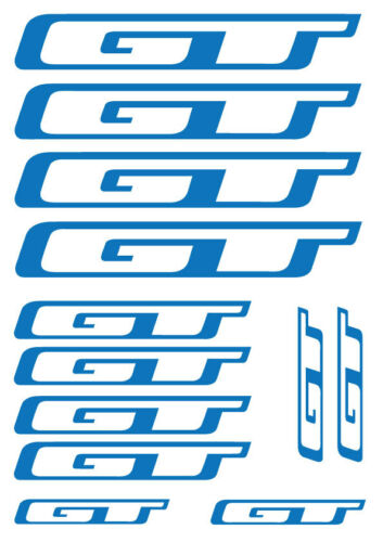 SET OF 12 BICYCLE FRAME REPLACEMENT VINYL STICKERS GT x 12 Frame Bike Decals