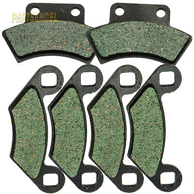 Front Rear Kevlar Carbon Brake Pads - 1993 POLARIS 350 Sportsman 4x4