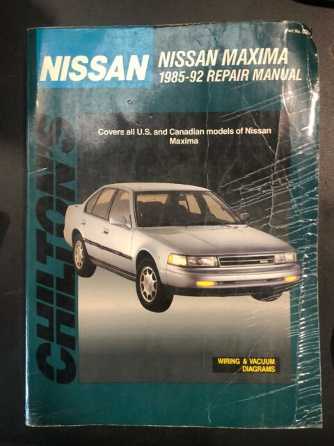 Chilton's Repair Manual 1985-92 Nissan Maxima 8261 52450 on