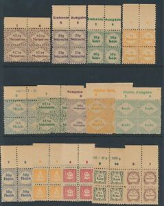 Lot-Stamp-Germany-Revenue-Blocks-WWII-3rd-Reich-Ration-Food-Nutrition-Set-MNG-2
