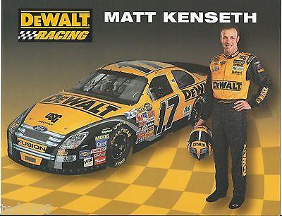 "2007 MATT KENSETH #17 DEWALT /""NEXTEL CUP SERIES/"" POSTCARD!"