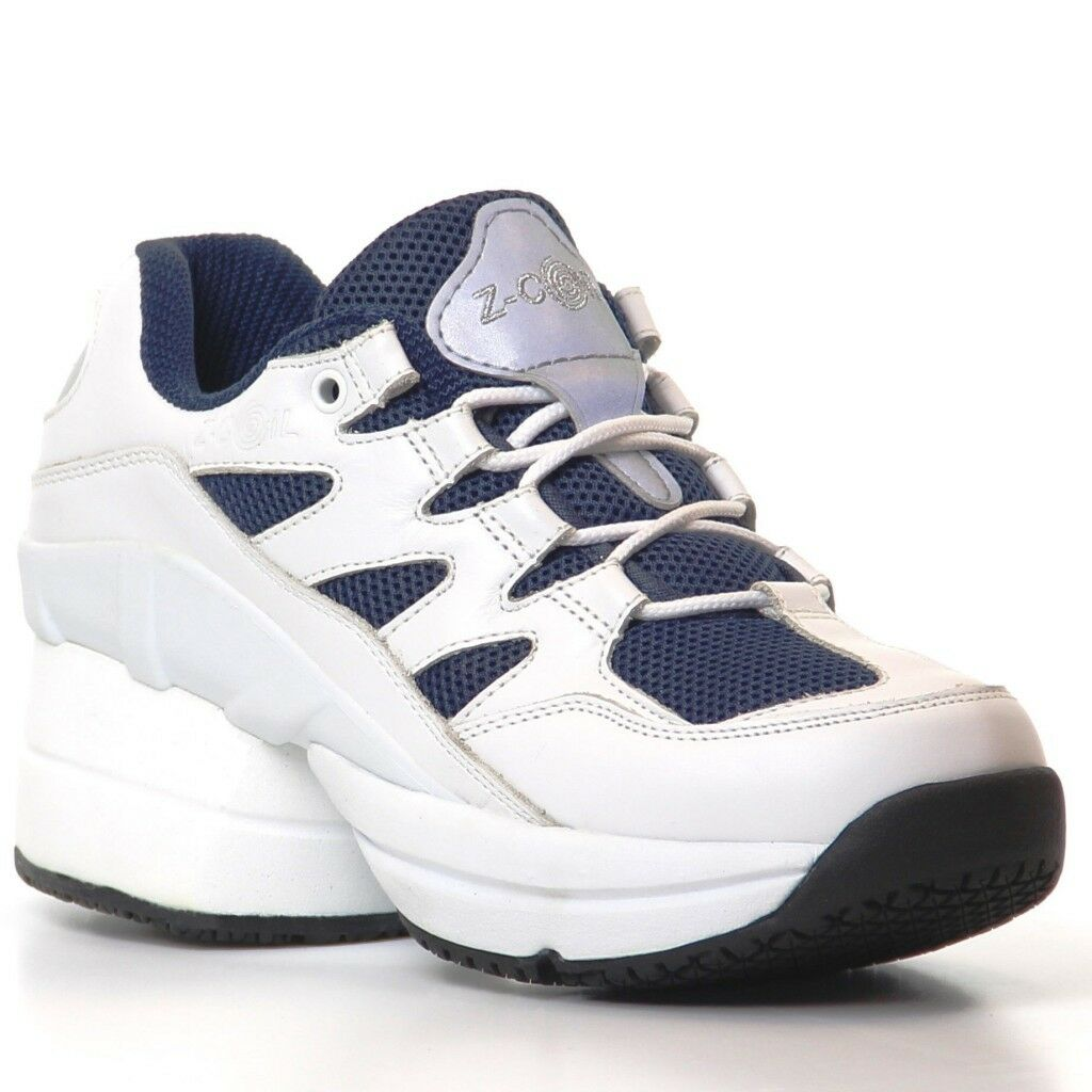 Z-Coil Freedom S R FW-02405 WOMEN'S Walk Run shoes White Navy 10 US ENCLOSED COIL