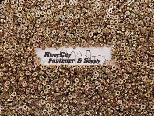 Metric Serrated Flange M6-1.0 Hex Nuts Yellow Zinc grade 10.9 Qty:75 75