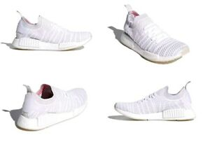 best sneakers 75737 a6801 Adidas NMD R1 STLT PK Shoes White / Grey / Pink Mens Size 11 US NIB ...
