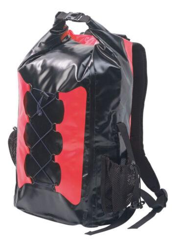 coloris rouge Sac à dos trekking étanche en toile de bâche 30 L noir SEMP