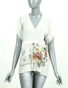 VERY-RARE-WOMENS-GUCCI-LIGHT-COTTON-PRINTED-FLOWERS-BLOUSE-TOPS-SHIRT-ONE-SIZE