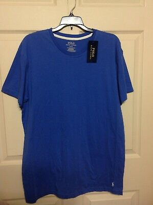 NWT Polo Ralph Lauren 3 Classic Fit Cotton Crew Embroidered Pony T-Shirts,Blues