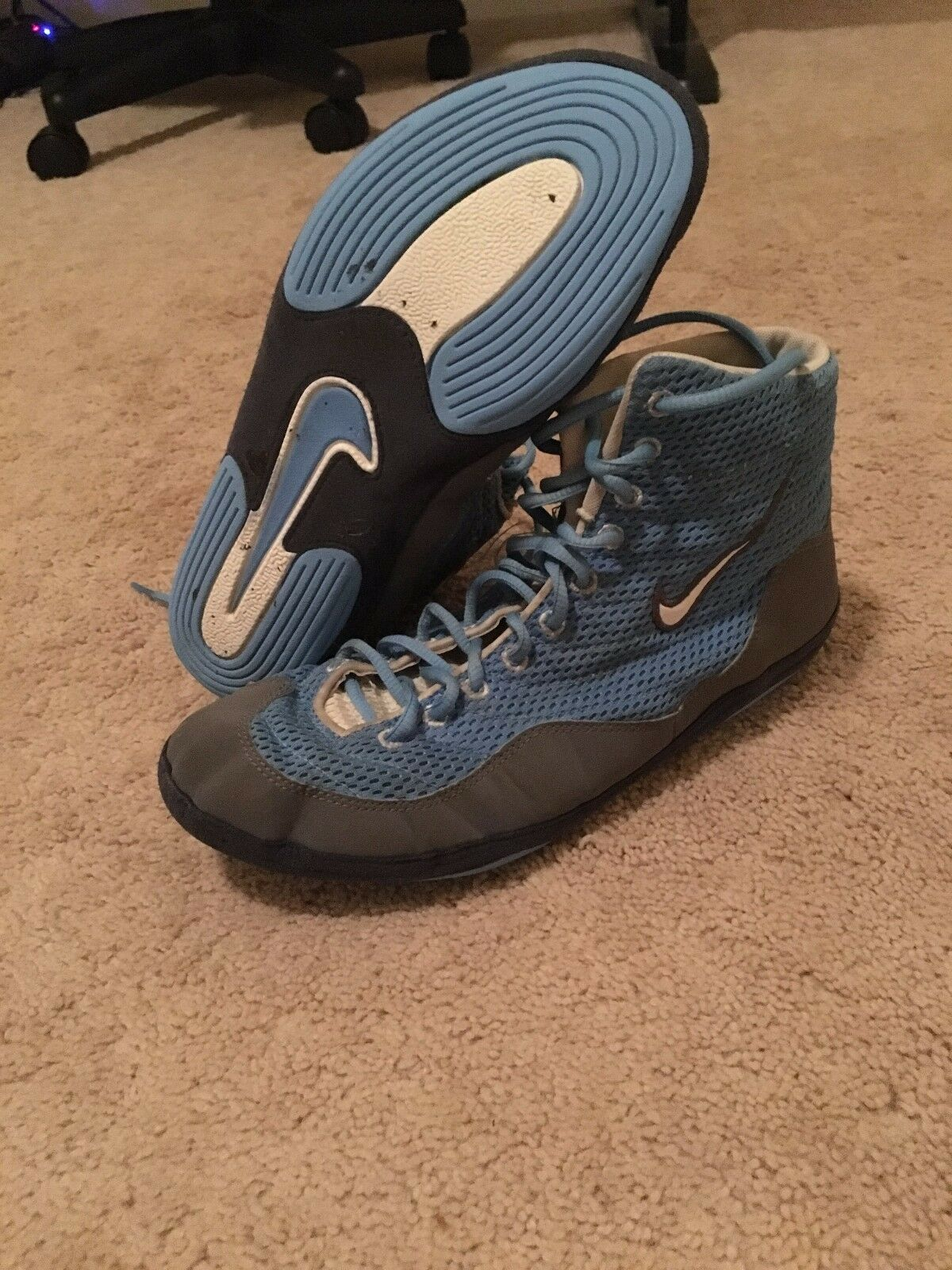 Nike Inflict 3  Grey and Light bluee  Size 10.5