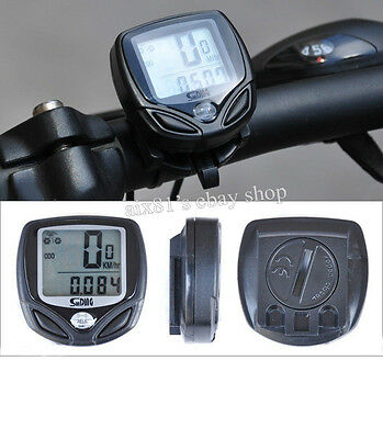 Waterproof Wireless LCD Cycling Computer Bicycle Bike Speedometer Odometer Meter