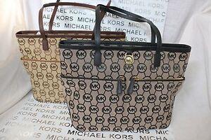 73b6e1ba24ab67 MICHAEL Michael Kors Kempton Medium Pocket Tote Bag - Black, Beige ...