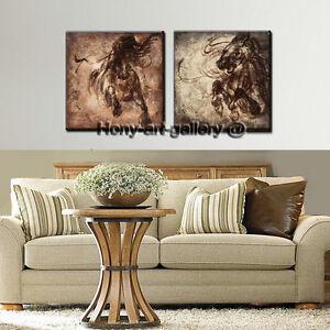 Framed Modern Home Decor Hd Print Animal Oil Painting Canvas Wall Art Horse T07 Ebay