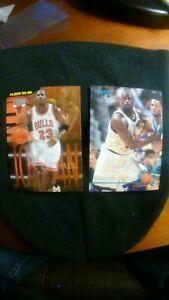Michael Jordan card and a Shaquille O'neil rookie rare pair
