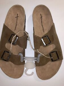 New American Eagle Leather Sandals Faux Birkenstock Men S
