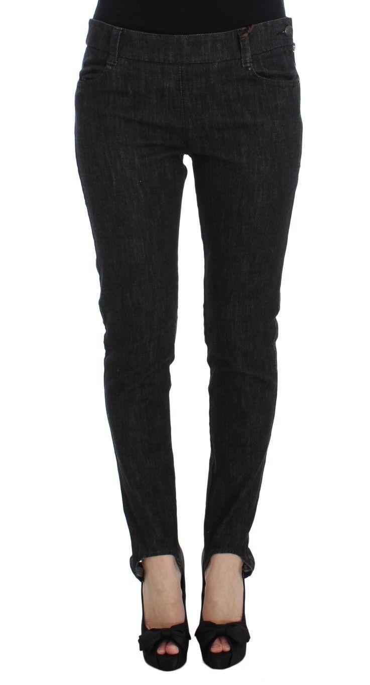 NEW  ERMANNO SCERVINO Pants Jeans bluee Cotton Slim Fit Denim s. IT42 US8 M