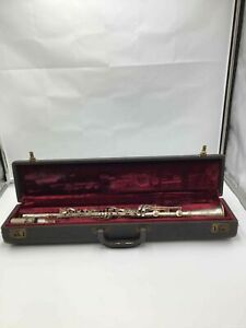 VINTAGE Silver Three Star Clarinet by H Bettoney Co. w/case