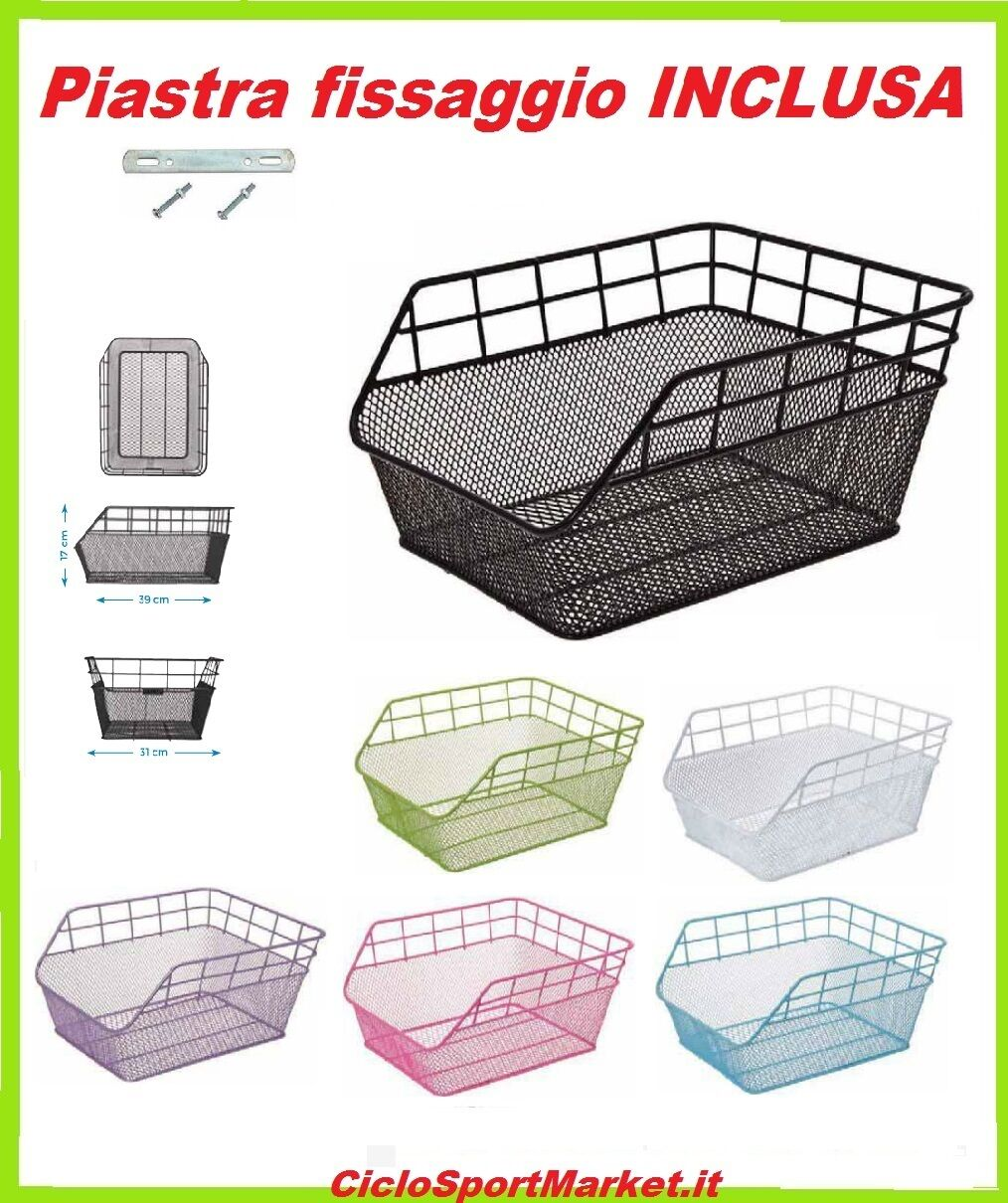 Basket Basket Rear  Trendy  for women's bicycle   MAN - Choose color