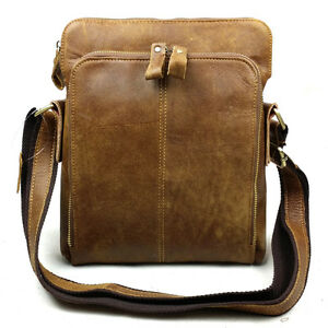 BAIGIO Men's Vintage Genuine Leather Shoulder Bags Messenger Satchel Briefcase